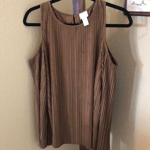 Brown Cold Shoulder Long Sleeve Top!